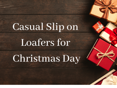 Casual Slip on Loafers for Christmas Day