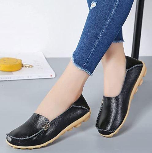 DUOYANGJIASHA Best Women's Comfortable Leather Loafers