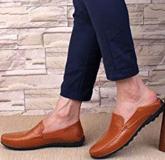 Go Tour Men's Premium Genuine Leather Casual Slip on Loafers
