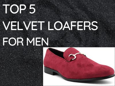 Top 5 velvet Loafers For MEN